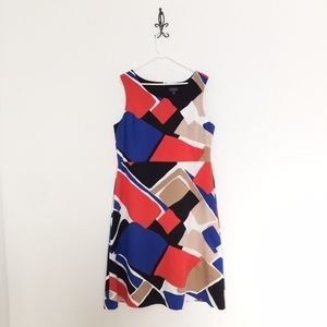 New The Limited Geometric Pattern A-Line Dress 18